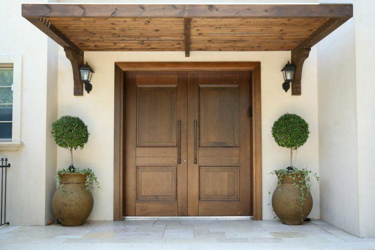 דלת זוגית מעץ