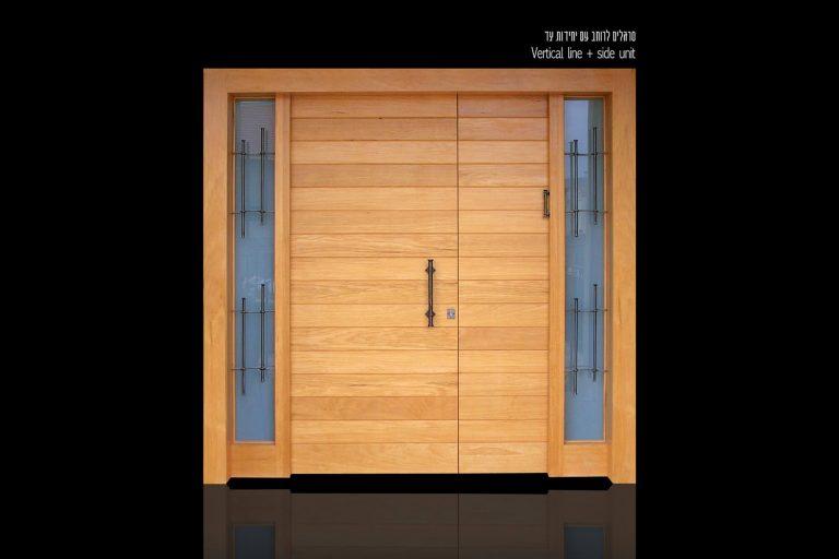 דלת כניסה חום בהיר