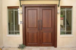 דלת כניסה כפולה חומה
