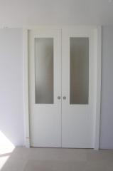 דלת פנים זוגית מעוצבת