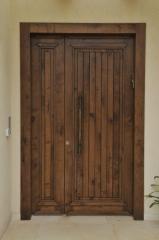 דלת כניסה עץ אלון