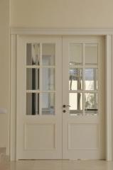 דלת פנים לבנה צרפתי
